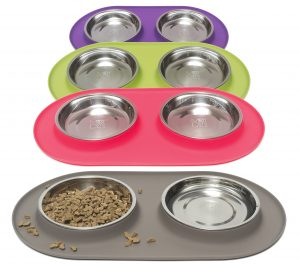 Messy cats Double Silicone Feeder 1